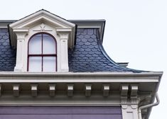 Victorian era house in Salem Victorian Homes Exterior, Victorian Architecture, Architecture Details, Roof Design, House Design, Roof Cap, Mansard Roof, Roof Styles, Second Empire