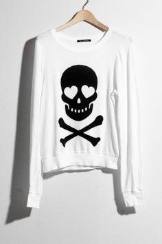 wildfox skull oversize sweatshirt