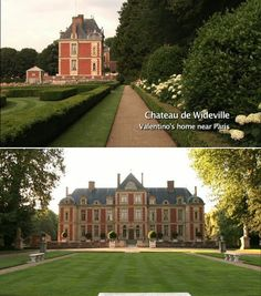 Have you ever watched Valentino: The Last Emperor? This house was shown in the film and is just breathtaking. Chateau de Wideville near Paris.