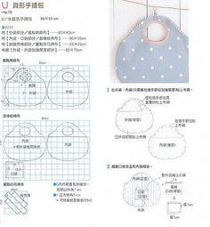 Artesanato.Revistas, Moldes e Dicas: Malas/bolsas em tecido com moldes 1
