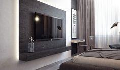 Grey Color Lcd Cabinet Design Adorable Bedroom Id987 - Modern Lcd Cabinet Designs For Bedroom - Bedroom Designs - Interior Design