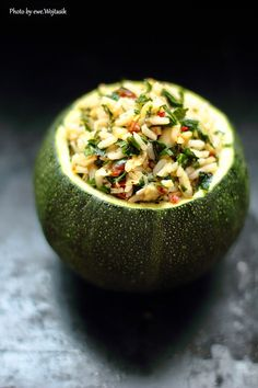 Stuffed Courgettes with Basmati Rice, Kale, Dried Tomatoes and Pepperoni Recipe