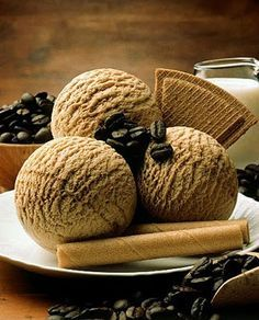 Receita de sorvete caseiro de café