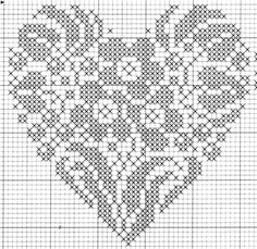 heart (any colors) Cross Stitch Kitchen, Just Cross Stitch, Cross Stitch Heart, Beaded Cross Stitch, Cross Stitch Flowers, Wedding Cross Stitch Patterns, Cross Stitch Designs, Filet Crochet, Crochet Chart