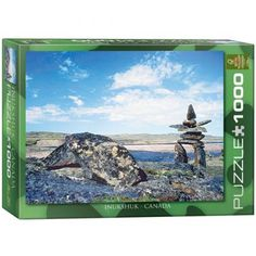 Inukshuk Arctic Landscape: 1000-Piece Puzzle! This #puzzle features a beautiful #northernlandscape, evoking the magnificence of the tundra. Made in USA.
