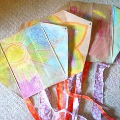 Beautiful, easy paperbag Kite.