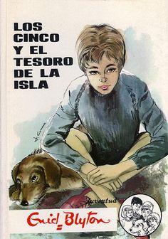 Five on a Treasure Island by Enid Blyton Comics Vintage, Vintage Posters, Books For Tweens, Nostalgia, Enid Blyton, Five Friends, Retro Images, Curious Cat, Treasure Island