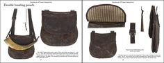 Twenty (20) original antique 18th and 19th century pouches are displayed in large full color photographs.  Dimensions, regional styles, and ...