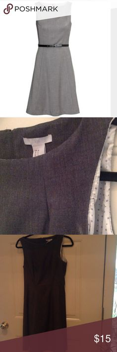 H&M Sheath Dress Gray H&M sheath dress in EUC.  Missing belt.  Dark gray color w lining.  Less on Ⓜ️️️️️️️ercari Dresses Midi