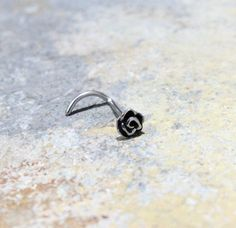 Rose Flower Nose Ring 20G SS316L Surgical Steel por Purityjewel
