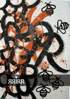 COLMENA DE BEJAR   Pintura en acrílico sobre bastidor de papel reciclado   50X70   RRiRR Ricardo Gil Turrion