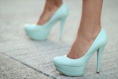 Pastel Blue Pumps #covet these