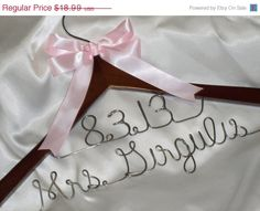 ONE double line bridal hanger personalized as you wish. This wedding dress hanger will make a great wedding gift or bridal shower gift. Have