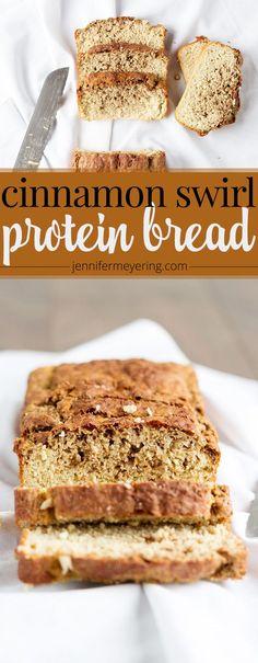 Cinnamon Swirl Protein Bread - JenniferMeyering.com