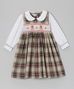 Take a look at this Red & Green Plaid Smocked Dress - Infant & Girls by Sweet Dreams on #zulily today!