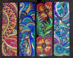 Colour has always been at the heart of every piece of artwork I have ever created from simple drawings to my most elaborate mosaic pieces. Mosaic Artwork, Mosaic Wall Art, Glass Wall Art, Stained Glass Art, Mosaic Glass, Mosaic Mirrors, Mosaic Crafts, Mosaic Projects, Mosaic Ideas