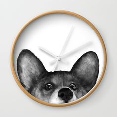 Buy Corgi Wall Clock by lauragraves. Worldwide shipping available at Society6.com. Just one of millions of high quality products available.