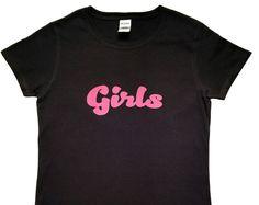 """Black """"Girls"""" T-Shirt"""