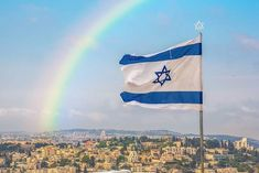 The rainbow over #Jerusalem 🌈 beautiful picture by@chen1mm @chen1mm_jerusalem