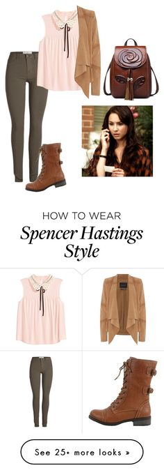"""Spencer Hastings"" by junebug24-1 on Polyvore featuring Oui and Wild Diva"