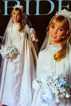 1960s Wedding Dresses, Bridal Dresses, Bridesmaid Dresses, 1970s Wedding, Wedding Gowns, Elegant Bride, Beautiful Bride, Vintage Bridal, Vintage Weddings