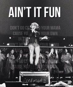 Paramore - ain't it fun - lyrics