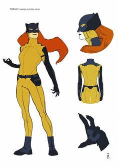 Decided to make redesign of Patsy Walker aka Hellcat. I added just a little more practicality (pockets, boots and palm's pads for claws when clenched in a fist) and changed some basic elements.