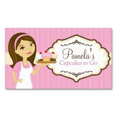 Brunette baker cupcake business cards d14 business cards food brunette baker cupcake business cards d15 make your own business card with this great design flashek Images