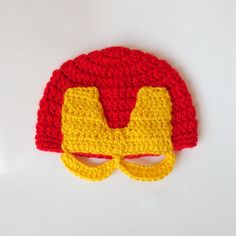 Iron Man Marvel Hat, Ironman Beanie Mask- Superhero Hat  Superhero Mask- Newborn Child Teen  Adult - Halloween / Cosplay / Baby Shower Gift by KernelCrafts on Etsy