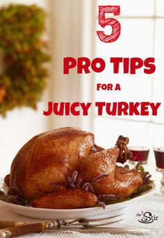 5 pro tips for a juicy turkey. Your Thanksgiving turkey will never be the same! First Thanksgiving, Thanksgiving Recipes, Holiday Recipes, Dinner Recipes, Christmas Recipes, Thanksgiving Sides, Holiday Meals, Christmas Desserts, Pioneer Woman Thanksgiving