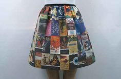 Classic Book Covers Skirt | 18 Quirky Literary Items You Can Buy On Etsy