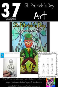Students will use their imagination to create a St. Patrick's Day Leprechaun art piece using watercolor paint and pencil crayon. Your students will really love this!