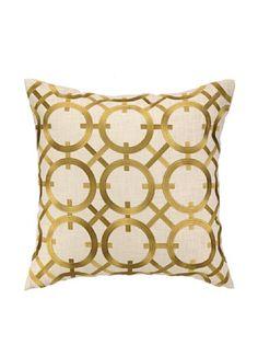 Peking Handicraft Parisian Lights Pillow, Citron