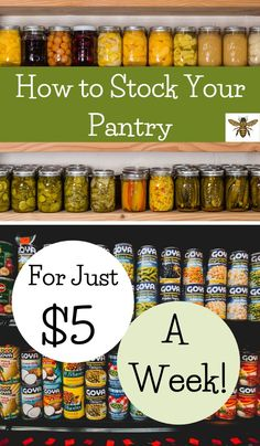 "Having a well-stocked pantry can be done on a budget! Check out how to get it done with ""How to Stock a Pantry for the First Time""! Pantry List, Healty Dinner, Pineapple Upside Down Cake, Food Security, Home Canning, Refried Beans, Preserving Food, Herbal Medicine"