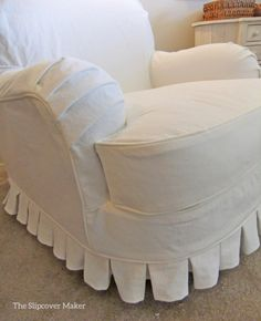 English Rolled Arm Slipcovers In White Denim The Slipcover Maker About Breathtaking Sofa Art Custom Slipcovers, Furniture Slipcovers, Slipcovers For Chairs, Upholstered Furniture, Arm Chairs, Recliner Slipcover, Tufted Ottoman, Eames Chairs, Chair Cushions