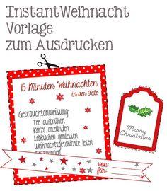 Instantweihnachten - Weihnachten in der Tüte verschenken. Printable/ Freebie