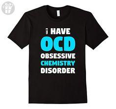 Mens OCD Obsessive Chemistry Disorder - Funny Chemist T-Shirt Small Black - Funny shirts (*Amazon Partner-Link)