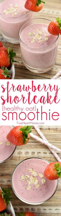 com strawberry shortcake smoothie healthy oat smoothie strawberry ...