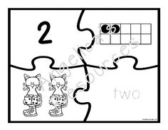 Counting Cats Number Puzzles •	Your students will have fun finding the corresponding number, ten frame, objects, and number word for values from 0 to 20. •	Tracing, cutting, and gluing... Guaranteed to help develop their fine motor skills. •	Includes one set in color and another trace and color set.