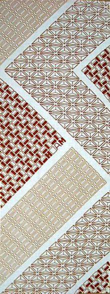 Japanese washcloth, Tenugui 神奈川県 箱根寄木細工の手ぬぐい Yosegi pattern tenugui