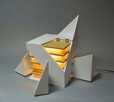 Folding Design Table Lamp by Michael Jantzen Table Lamps