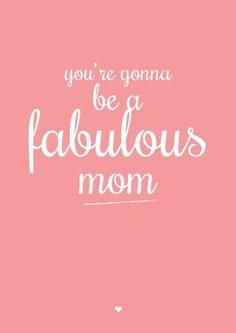 Kaartje voor de aller beste (toekomstige) mama.