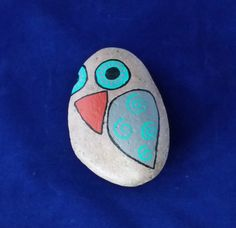 Owl Painted Stone by OwlArtbySandra on Etsy