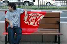 Kit Kat bench. Yumminess you can sit on. What? That's what I'm talkin' about. Oh, yeah.