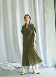シャツワンピース【メール便不可】 selectMOCA(セレクトモカ)【オフィシャル通販サイト】 Salwar Designs, Kurta Designs Women, Pakistani Dresses Casual, Pakistani Dress Design, Simple Dresses, Elegant Dresses, 2020 Fashion Trends, Fashion Brands, Modest Fashion