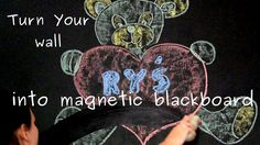 How to convert wall into magnetic blackboard for kids room - easy tutorial