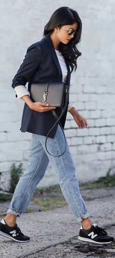 #spring #summer #street #style #outfitideas | Sporty Chic Street Style                                                                             Source