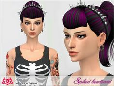 This spiked headband is a head accessory, is well with many hairs! Found in TSR Category 'Sims 4 Female Earrings' Goth Hat, Sims 4 Cc Makeup, Queen Makeup, Sims 4 Update, Artists For Kids, Sims 4 Cc Finds, Sims Resource, Sims Mods, The Sims4