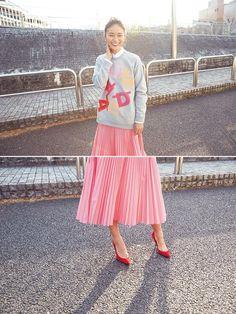 「春らしく、カラーで装うのが今の気分」 クリス-ウェブ佳子さんのプライベートスタイル - itLIFE by FRaU(イットライフ バイ フラウ)