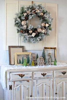 country style christmas home tour - Country Style Christmas Decorations